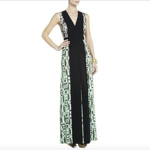 BCBG Max Azria Ombre Snakeskin Gown
